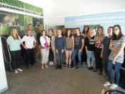 Schülerinnen der Liebfrauenschule Bensheim zu Besuch bei HTV